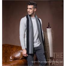 Lenço de acrílico de nylon de poliéster de lã listrado moda masculina (yky4612)