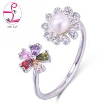 Ring-Perlen-Schmucksachering der Qualitätsart und weise offener Ring justierbarer