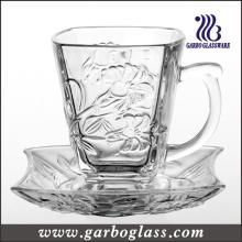 Ensemble de tasses à thé et de soucoupes en verre de haute qualité (TZ-GB09D1305LB)
