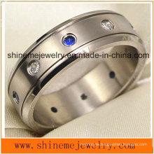 Shineme joyería de alta calidad Zircon Titanium Ring (TR1850)