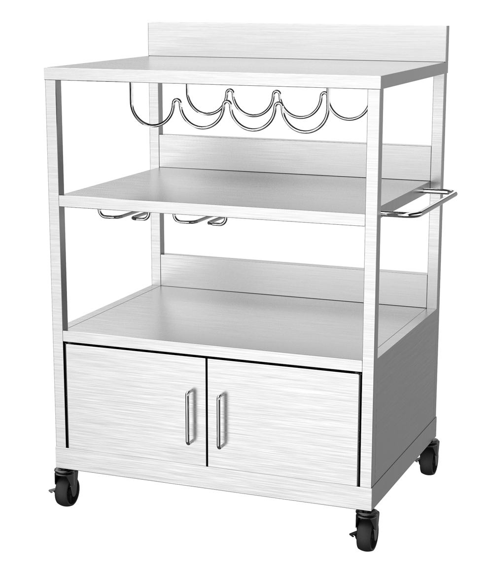 Stainless Steel Griddle Plancha Trolley