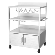 Garden Plancha Trolley with Cabinet