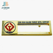 Custom Design Logo Rectangle Metal Name Badge for Promotion