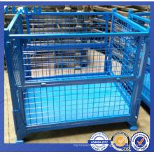 Solución de almacenamiento en almacén de contenedor apilable / contenedor de alambre resistente