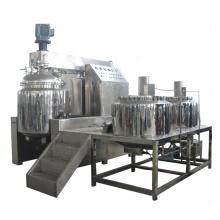Emulsifying pot with vacuum homogenizer emulsifier
