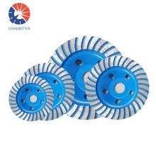 7' 180mm Hot Press Sintered Segment 80Mm Diamond Grinding Cup Wheel