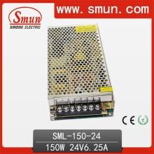Fuente de alimentación de conmutación de 150W 24VDC 6A con RoHS del CE aprobado