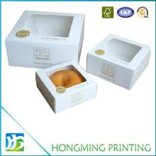 Custom Transparent Window White Cake Packaging Box