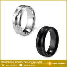 Eternity Channel Band Ring / Stainless Steel 8MM Anillo de dedo para hombre