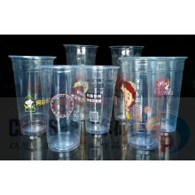 Custom Printed Transparent Disposable PP Pet Plastic Cup with Lid