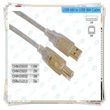 Câble d'imprimante USB plaqué or, USB 2.0 Câble M Male to B Male