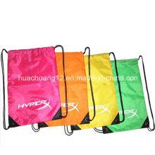 Poliéster Nylon Algodão não tecido mochila Drawstring Bag Made