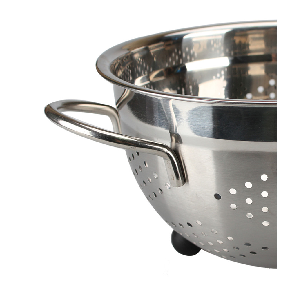 Stainless Steel Colander With Twins Handle