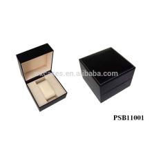 Schwarzes Leder Uhrenbox für einzelne Uhr