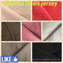 Tecido de linho para t-shirts (QF14-1546-sólido)