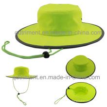 100% poliéster microfibra al aire libre ocio pescador cubo Hat (TMBH0705)