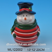 Высокое качество керамических банок снеговика Рождество снеговика
