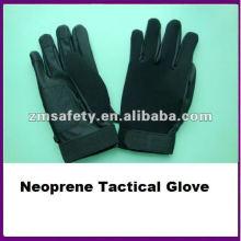 Black PU Leather Custom Neoprene Tactical Glove/Mechanic Glove ZMR489