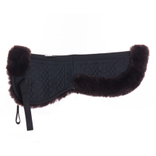 Black Sheepskin Quilt Half Saddle Pad