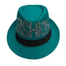 Personalized Fashion Promotional Custom Logo Polyester Fedora Hats for Girl