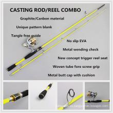 Aparejos de pesca SPR090 caña de pescar spinning compuesto de carbono