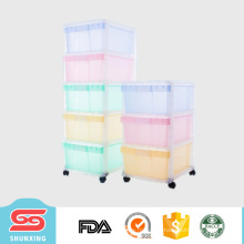горячая распродажа высокое качество мульти-слой шкаф пластиковый комод с колесом