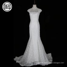 Hot vente personnalisée en dentelle blanche mariée modèles de robe de mariée