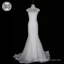 Hot selling custom made white lace bridal wedding dress patterns