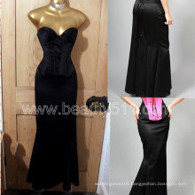 New Style Vintage 40s 50s style Satin Hollywood Wiggle Fishtail Diva Corset dress Skirt GP011