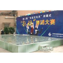 aluminiumbinder und bühne und podestadium können maßgeschneidert werden, einfach einzurichten und zu entfernen, made in shanghai