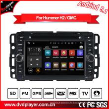 Vidéo de voiture Android pour Hummer H2 Navigation audio DVD avec connexion WiFi Hualingan