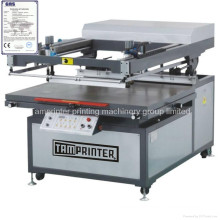 CE automático grande formato oblíquo braço máquina de impressão de tela plana