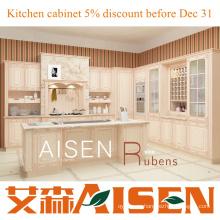 Armario moderno de la cocina del PVC de Rubens 2015 modificado con buen precio