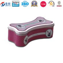 Knochen-geformte Haustier-Nahrungsmittelpaket-Haustier-Zinn-Kasten