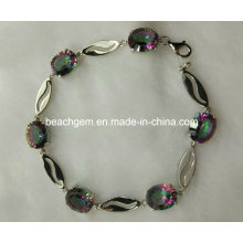 Mode argent topaze mystique bijoux Bracelet (BR0029)