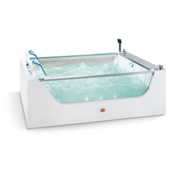Acrylic & Glass Massage Double Bathtub