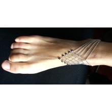 Bracelets de cheville simples à pampille métal