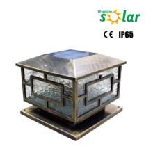 Наружное освещение CE солнечной столба света; Ворота садовые столба освещения; огни солнечной столба