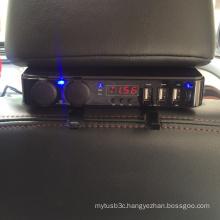 Car Vehicle Headrest USB Charger with 3 Ports 5V 6A USB Socket 2 Ports DC 12V