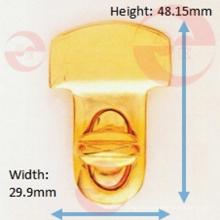 Alliage de zinc sac à main en métal type en forme de t twist turn lock