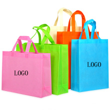 durable pinted logo laminated non woven totebag fabric recycled foldable tote shopping bag
