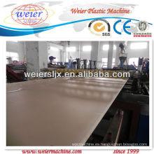 Planta caliente de la fabricación de la tabla de la espuma de la corteza del wpc de la venta