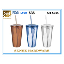 450ml Double Wall Stainless Steel Coffee Mug (SH-SC05)