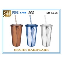 Кружка кофе нержавеющей стали 450ml двойной стены (SH-SC05)