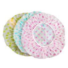 3 Pieces Waterproof Caps Elastic Reusable Bathing Hair Cap for Beauty Salon Spa Shower Caps
