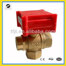 Válvula de motor CWX-1.0A de latón de 3 vías de 1/2 pulg. Para servicio de rociadores contra incendios, ventilador y sistema de ciclo de agua caliente