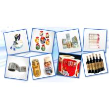 Impressão de etiquetas autoadesivas para produtos cosméticos transparentes