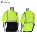 2018 Nuevo Diseño de Alta Visibilidad Naranja 2 Tonos de Seguridad Camisetas Cool Workwear Con 3 M Cintas Reflectantes Pocket Summer