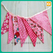 Custom size screen printing bunting flag for birthday party