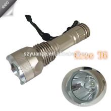 Fábrica de venda em massa multi-função de alumínio ajustável foco luz recarregável 3w q3 / q5 levou Tactical Flashlight Review